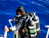 Technical Diving Exploration Photo off of the Dry Tortugas Florida.