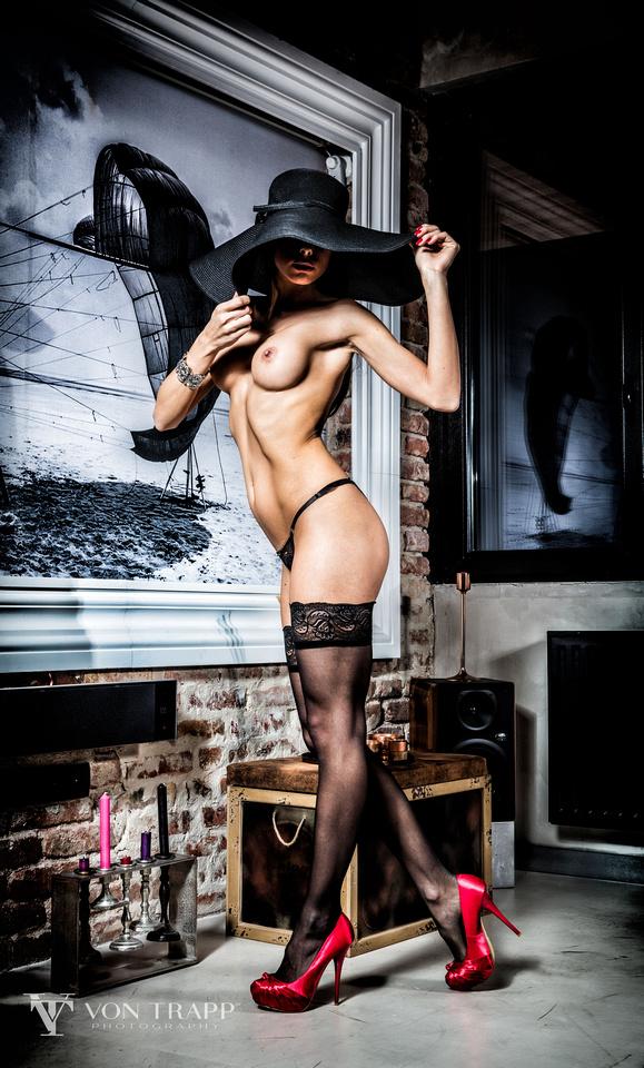 Fashion nude photo taken in Budapest, sexy, emotive glamour photography.
