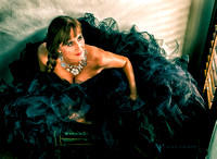 Glamour photo of a beautiful mature in a tulle skirt. Texas glamour elegant couture beautiful evocative sexy photo