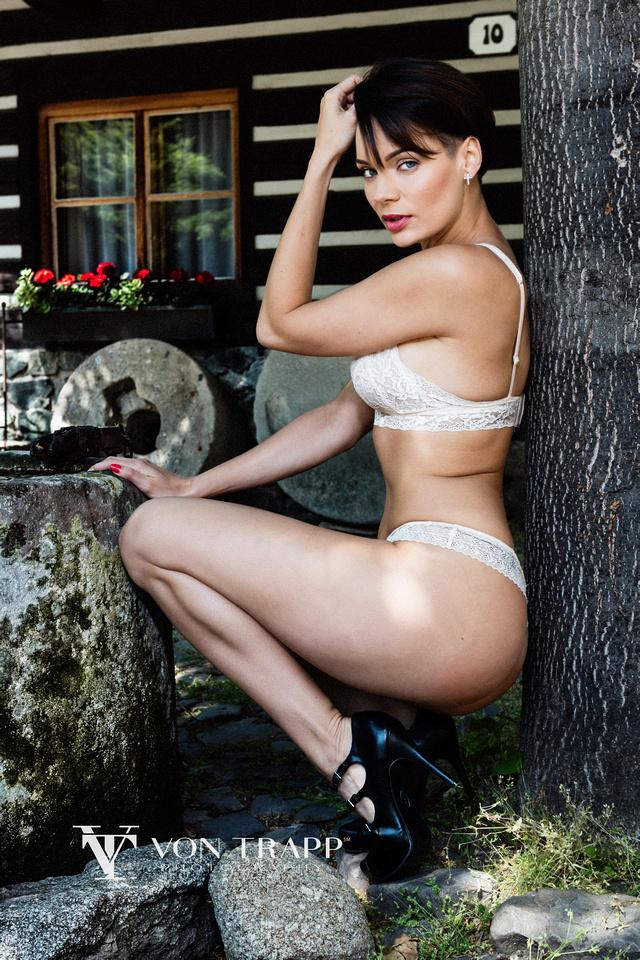 San Antonio-Houston Fashion Photography. Sexy lingerie glamour photo shoot on the streets of Prague. Elegant and emotive glamour photography.