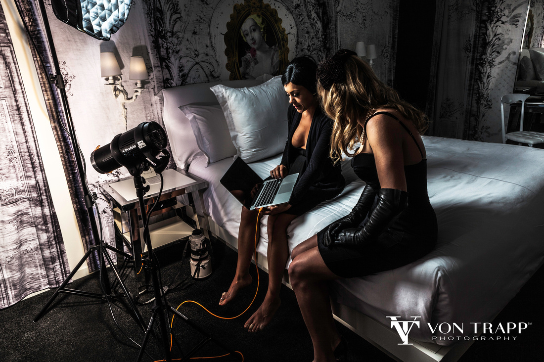 Behind the scenes of a glamour shoot with Von Trapp Photography of Austin, San Antonio, Houston.