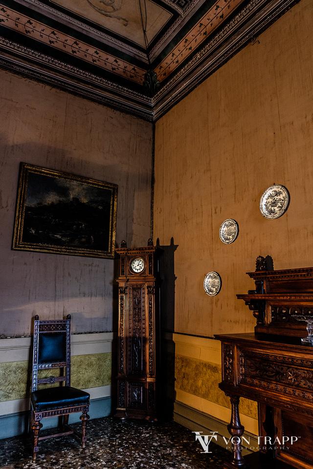 Fashion shoot location in the Palazzo Ca Zen, Venice Italy.