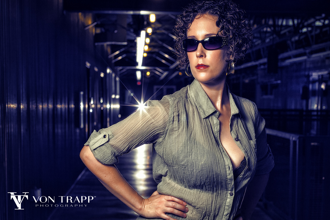 San Antonio fashion photographer creates an emotive and edgy glamour image at the Pearl Brewery in San Antonio.