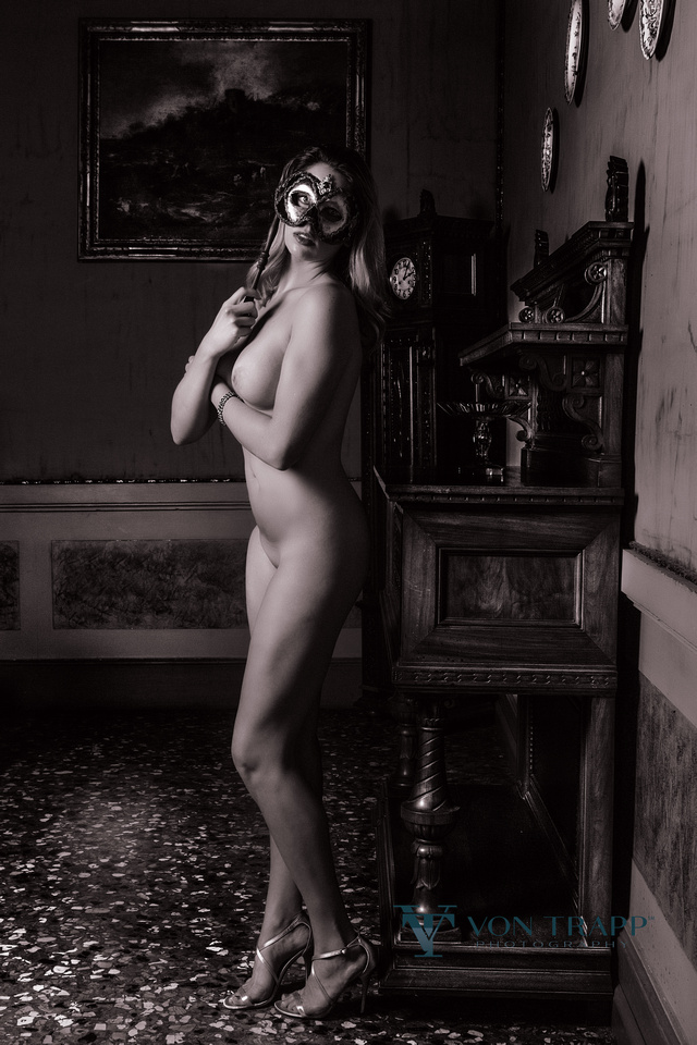 Fashion Nude Photo taken in a Venice Palazzo, Italy.