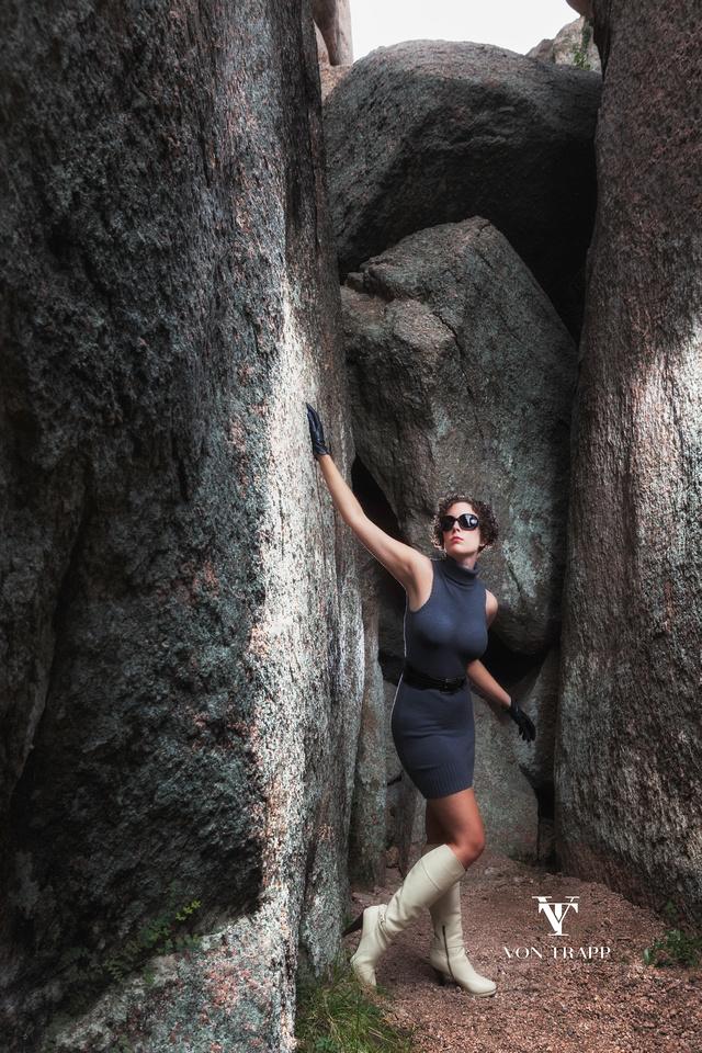 Glamour Photo | Enchanted Rock | Edgy Beautiful Sexy Evocative Boudoir/Glamour Photography